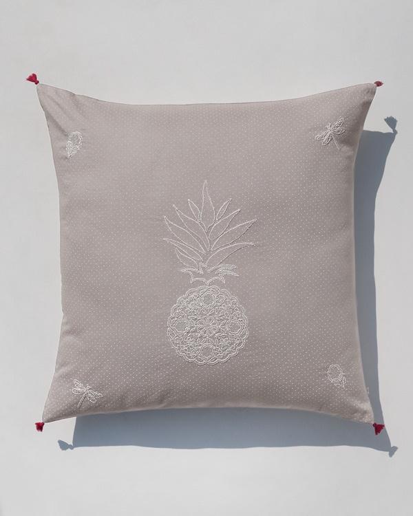 Pineapple Euro Sham - Ivory
