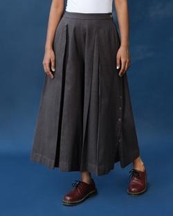 Pleated Flare Culottes