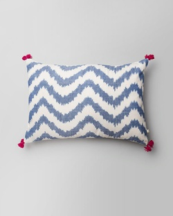Kasuri Chevron Lumbar Pillow