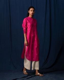 Long Length Kurta - Pink