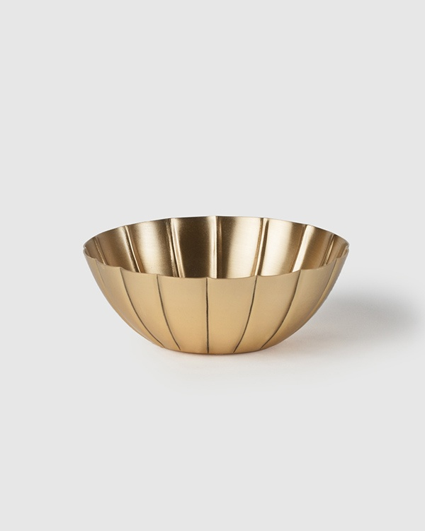 Lotus Leaf Brass Bowl
