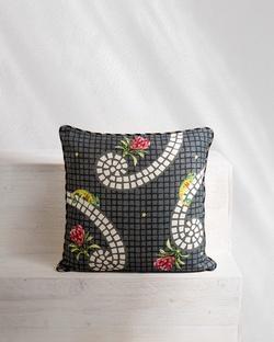 Tile Cushion - Charcoal