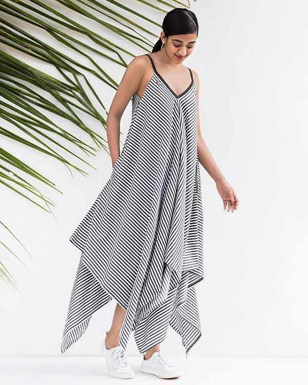 Handkerchief Stripe Dress