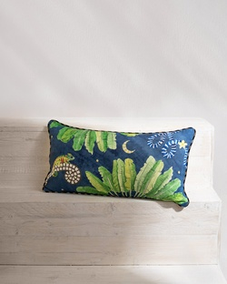 Madagascar Lumbar Cushion - Blue