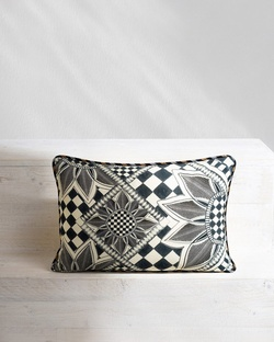 Arabesko Lumbar Cushion - Charcoal
