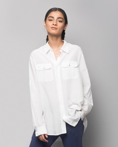 Ukiyo Cotton Silk Shirt - White