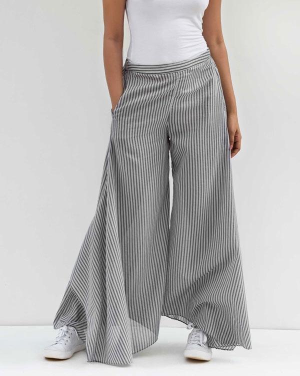 Uneven Hem Pant - Grey
