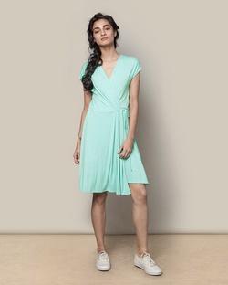 Wrap Dress - Aqua