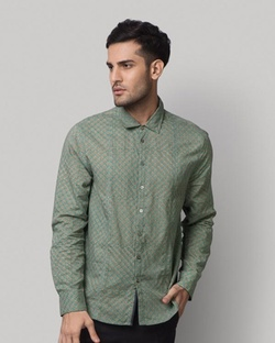 Jaali Bloom Shirt - Teal
