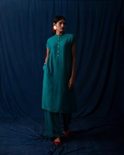 Short Sleeve Kurta - Teal