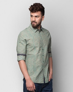 Jaali Bloom Shirt - Teal