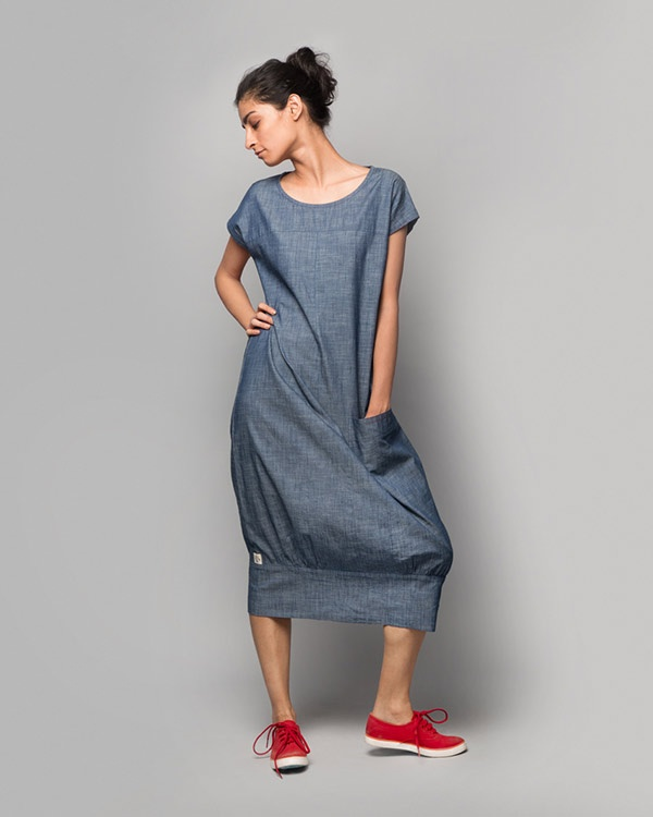 Shibui Chambray Dress - Blue