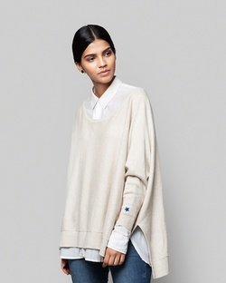 Victoria Boatneck Pullover - Oatmeal