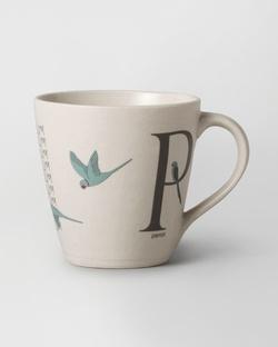 Alphabet P Mug - Stoneware