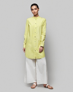 Button-down Tunic - Lime