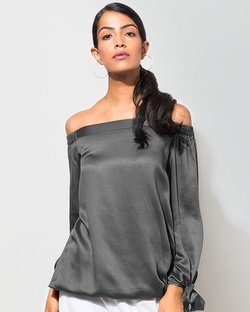 Cinched Top - Charcoal