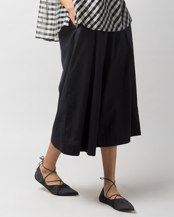 Double Pleat Culotte - Black