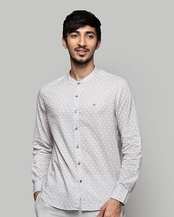 Nawab Printed Shirt - Grey