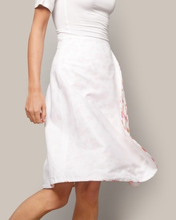 Reversible Wrap Skirt - White