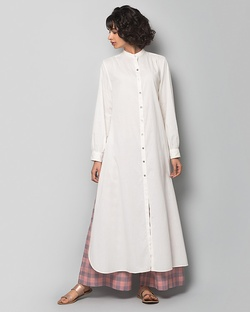 A Good Opening Plain Kurta - Ivory
