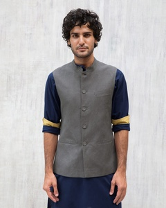 Nehru Jacket - Charcoal