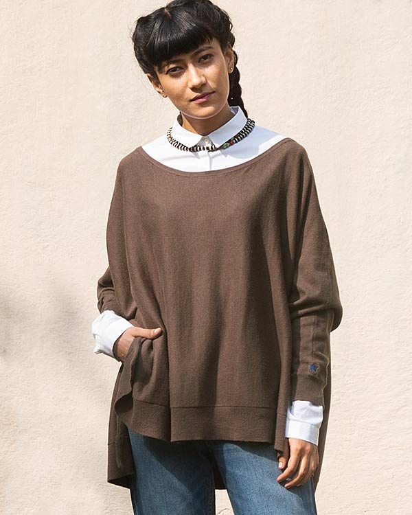 Victoria Boatneck Pullover - Taupe