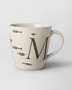 Alphabet M Mug - Stoneware