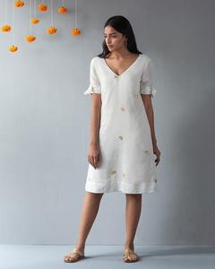 V-Neck Shift Dress - Ivory