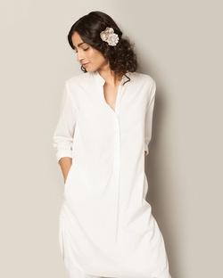 Basic Mid-length Kurta - White