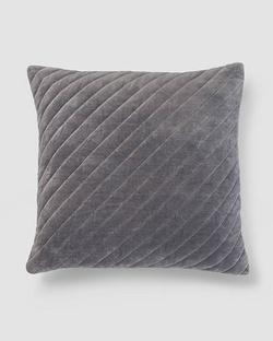 Asante Velvet Cushion - Charcoal
