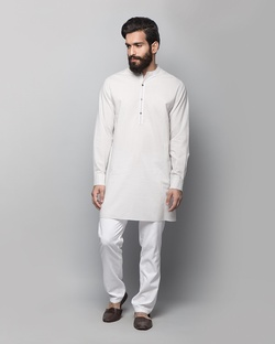 Chandni Chowk Dotted Kurta - Grey