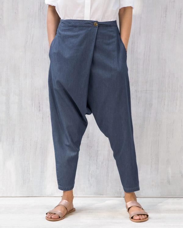 Jinan Slouchy Pants - Blue