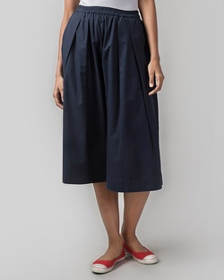 Front Pleat Pant - Blue