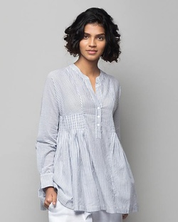 Peasant Striped Blouse