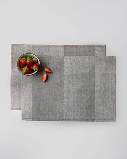 Toori Placemat (Set of 2) - Grey & White