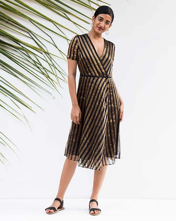 Wrap Stripe Dress