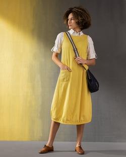 Joey Reversible Dress - Yellow & White