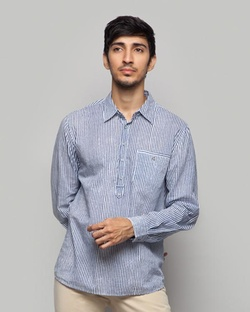 Vagator Striped Shirt - Blue & White