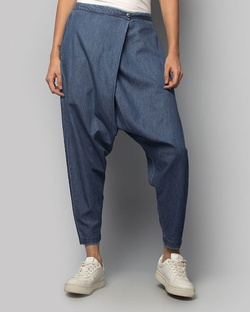 Jinan Slouchy Pants - Denim Blue