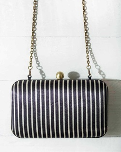 Martini Clutch - Ivory & Black