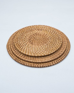 Rattan Trivets (Set of 3)