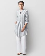 Classic Mid-length Stripe Kurta