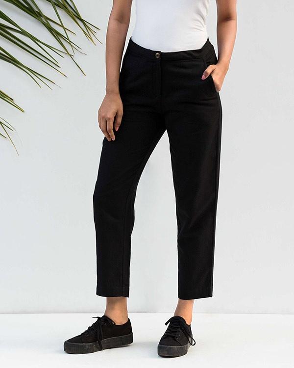 Narrow Hem Pants - Black