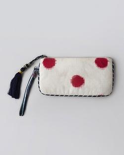 Ikat Pouch -  Indigo & Ivory