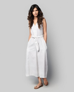 St. Bart Printed Sleeveless Jumpsuit
