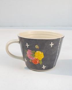 Rose Charcoal Soup Mug