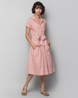 Cadeau Dotted Dress & Slip Set - Pink