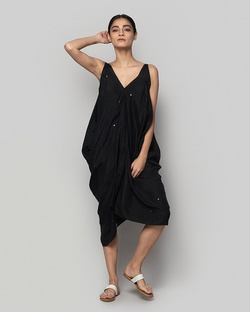 Silk Asymmetrical Dress