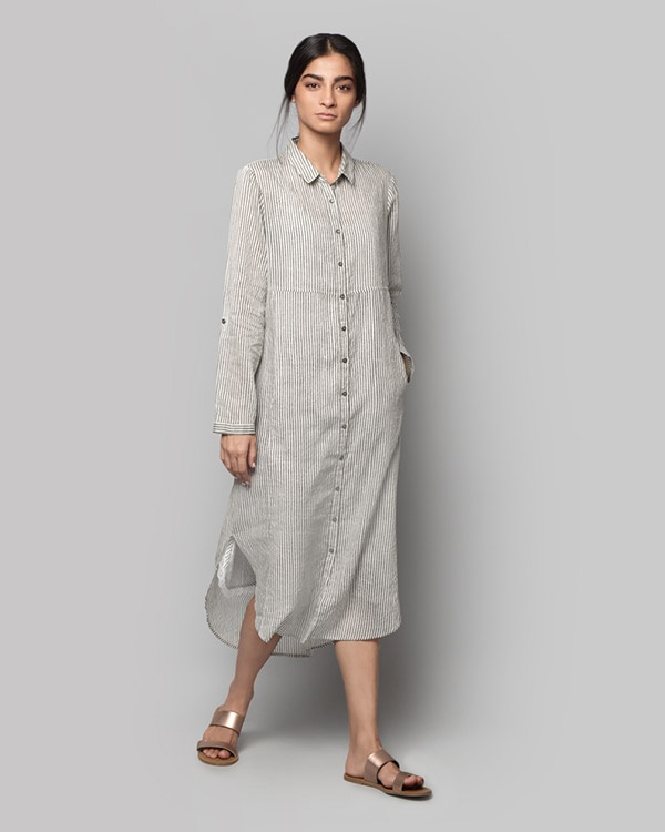 Pristine Long Shirt Dress