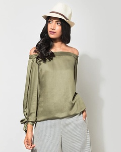 Cinched Top - Olivine